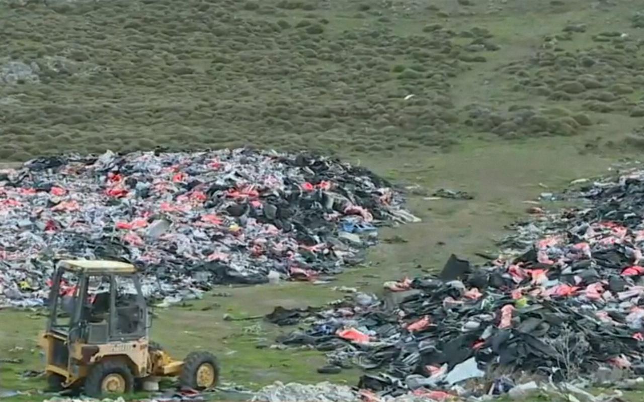 Midilli Adası'nda can yeleği mezarlığı oluştu