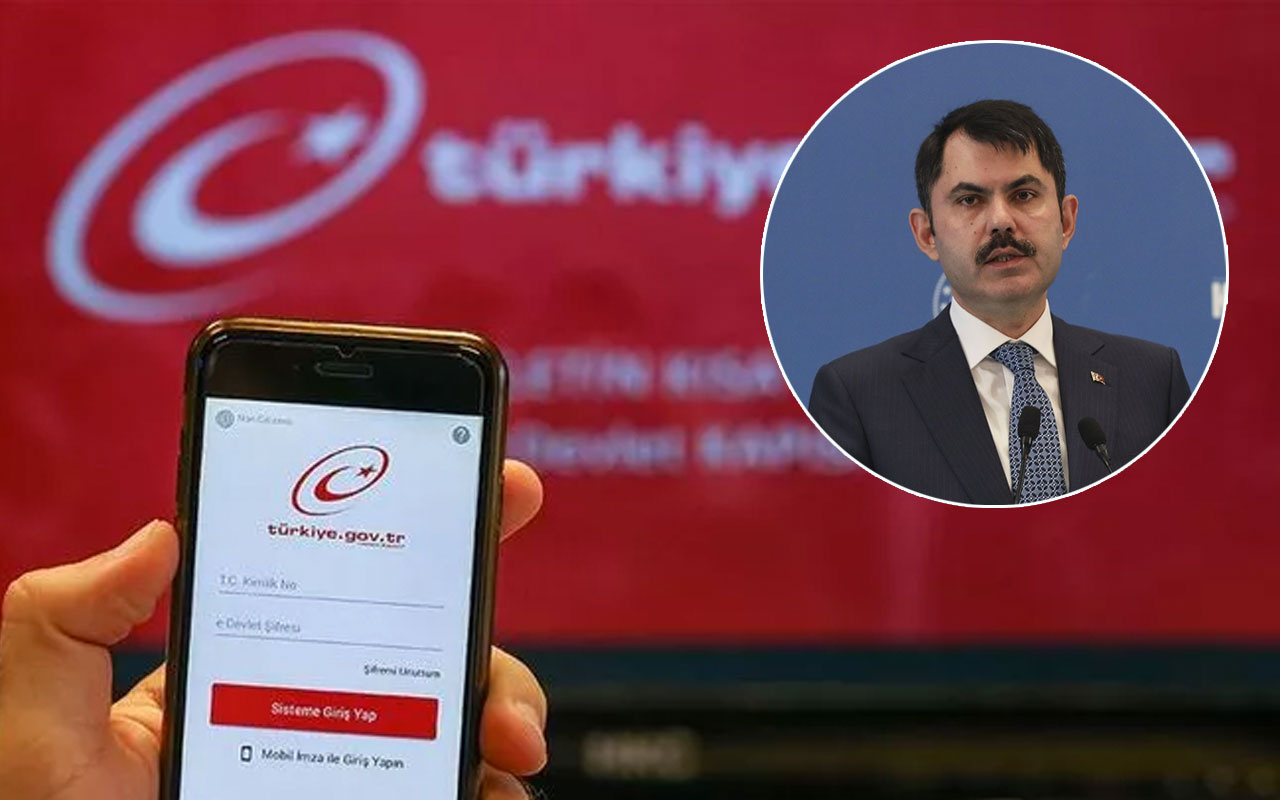 Bakan Murat Kurum talimat verdi 46 tapu işlemi artık e-Devlet'te