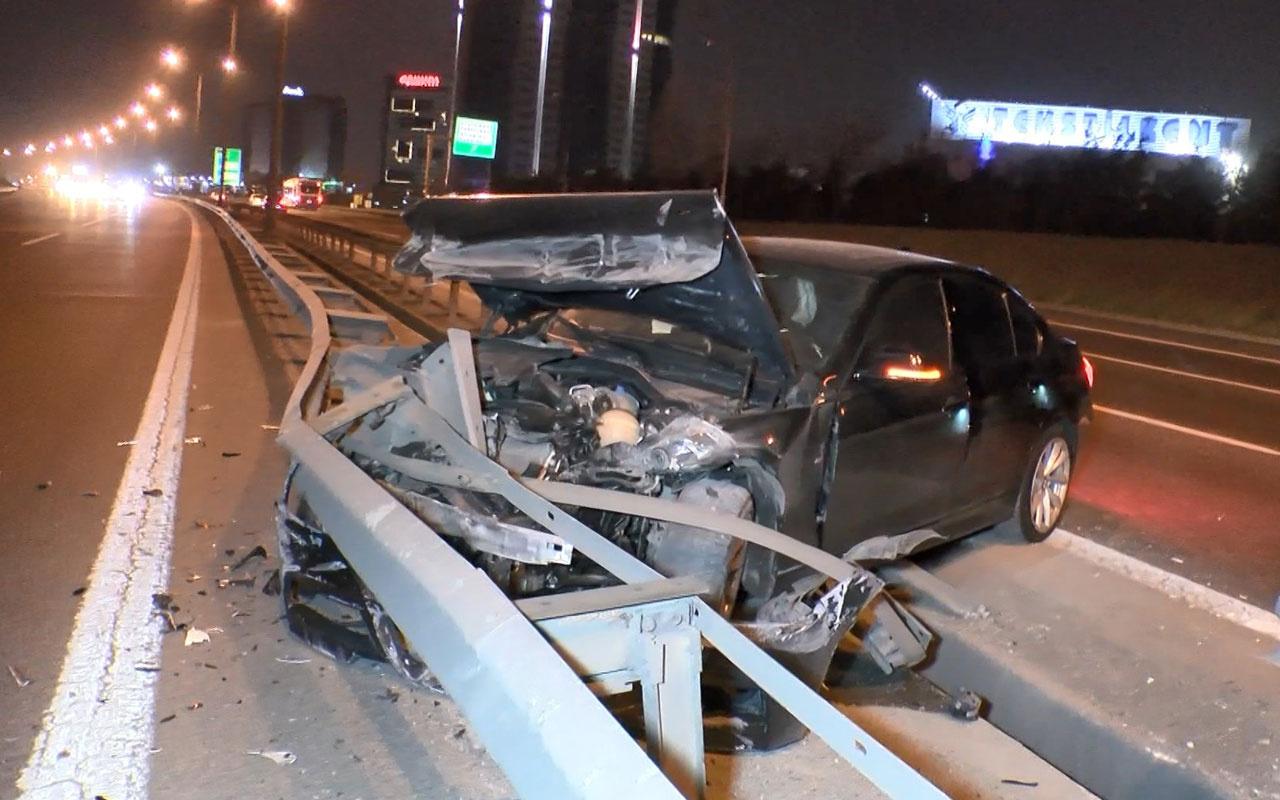 TEM'de sabah trafiğini kilitleyen kaza: 1 yaralı