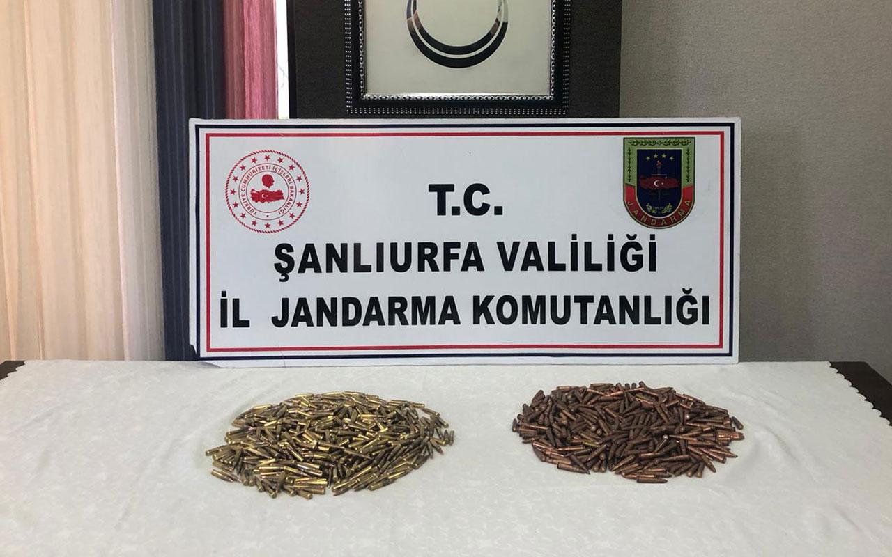 Şanlıurfa'da uzun namlulu silahlara ait 1040 mermi ele geçirildi