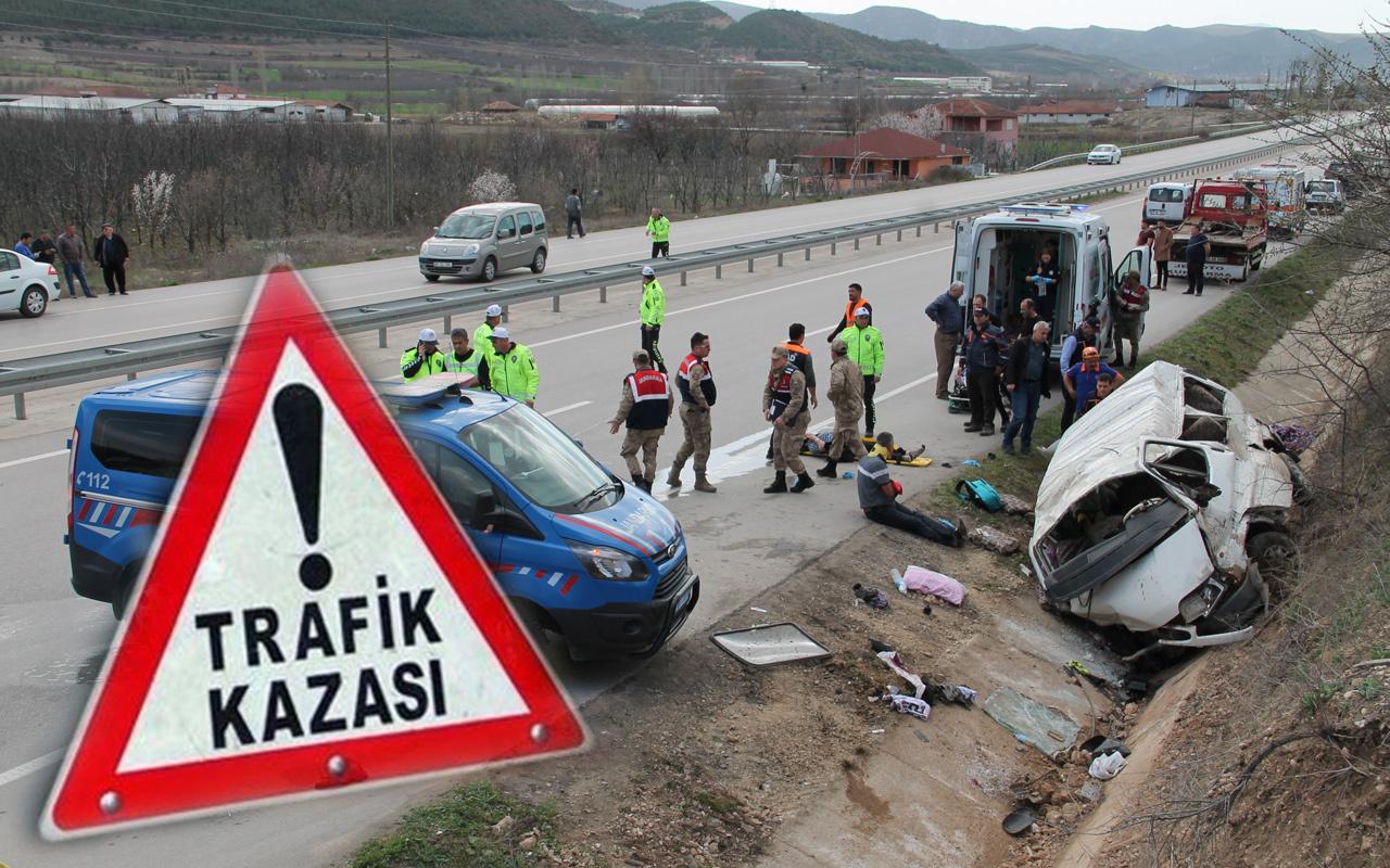 Amasya'da minibüs yol kenarındaki kanala düştü 2 ölü 7 yaralı