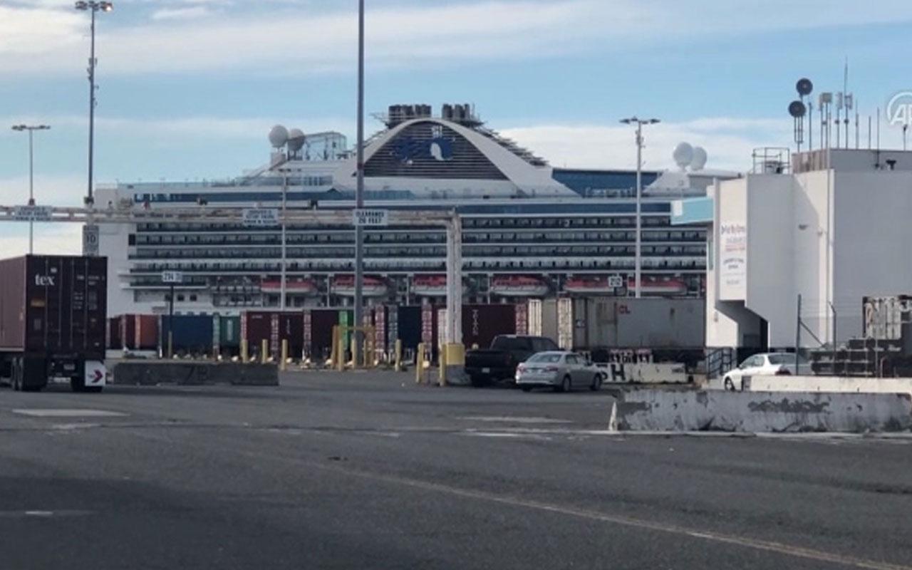 Kaliforniya açıklarındaki dev yolcu gemisinde koronavirüs vakası