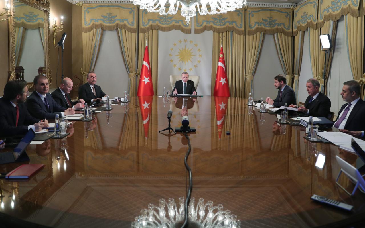 Erdoğan Macron Merkel Johnson 4'lü zirvesi sona erdi