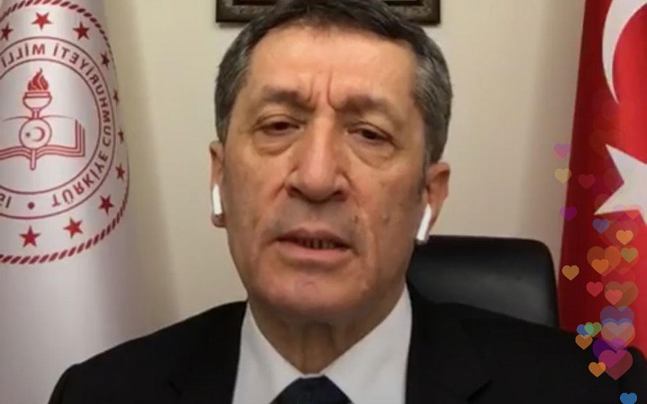 Milli Eğitim Bakanı Ziya Selçuk'tan uzaktan eğitimle ilgili yeni açıklama