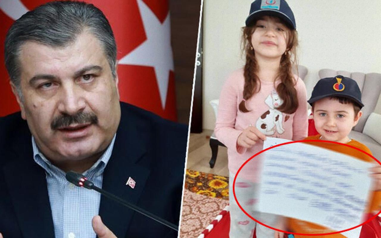 Sağlık Bakanı Fahrettin Koca'dan duygulandıran paylaşım