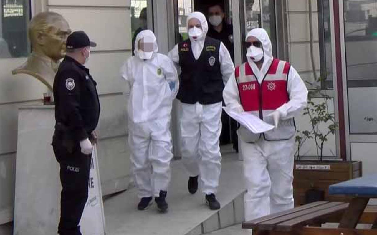Hastanede iki görevliyi bıçaklayan adam karantina altında adliyeye çıkarıldı