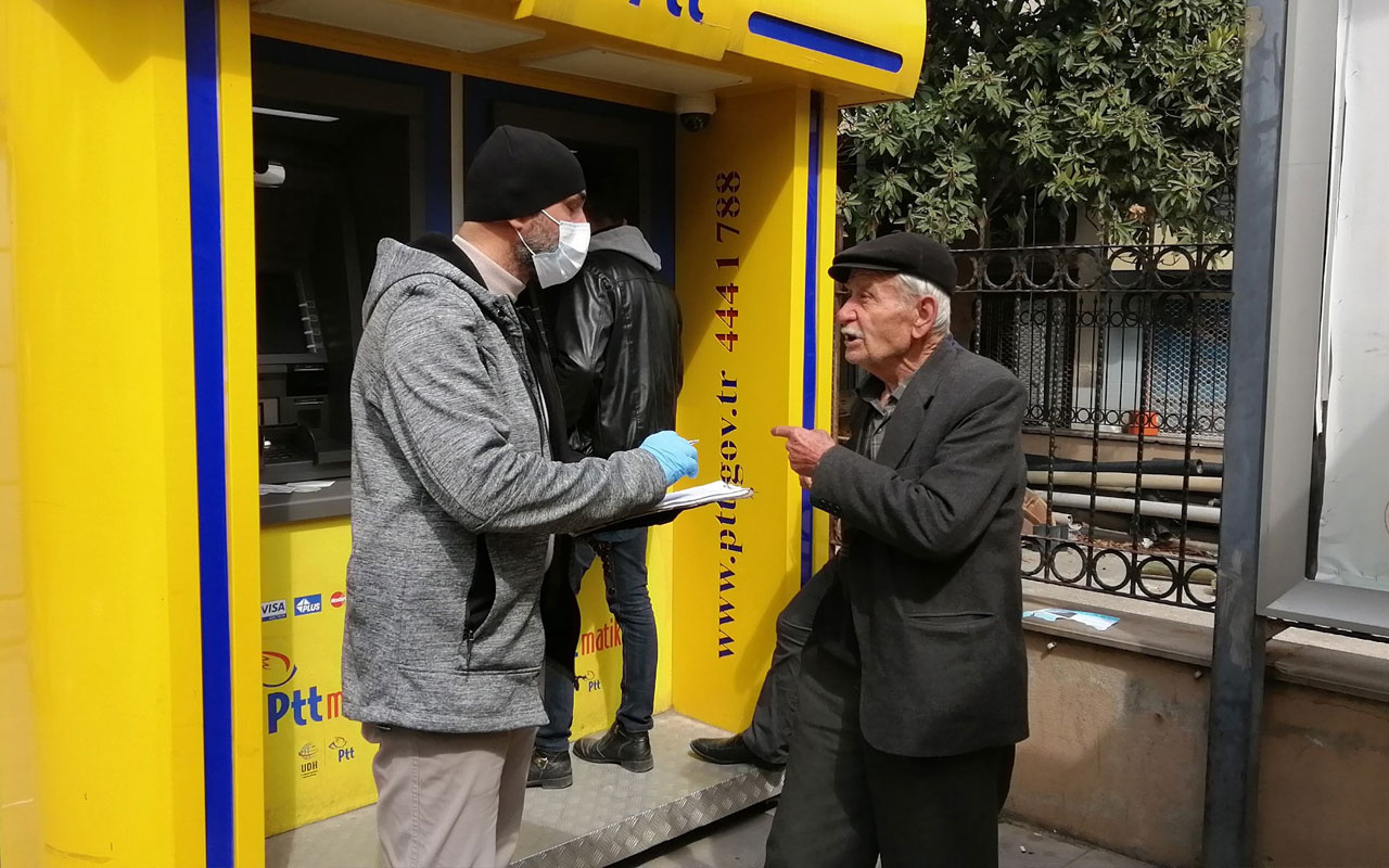 Evde kalmayıp sokağa çıkan 77 yaşındaki dedenin isteği şaşırttı!
