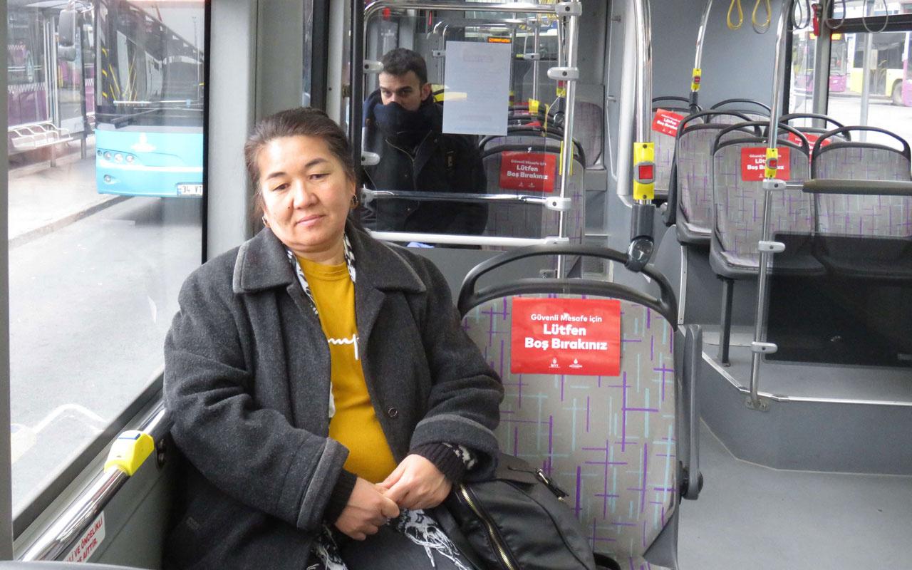 İstanbul'da toplu taşımada seyrek oturma düzeni