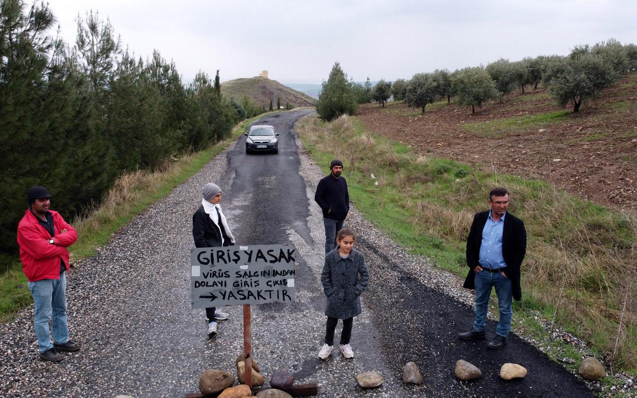 Adıyaman'da köye kimseyi sokmuyorlar koronavirüs korkusu yolu kapattırdı