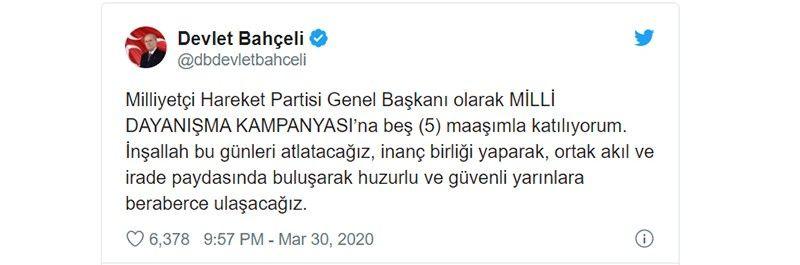 Erdoğan öncü oldu Kampanyaya bağış yağdı