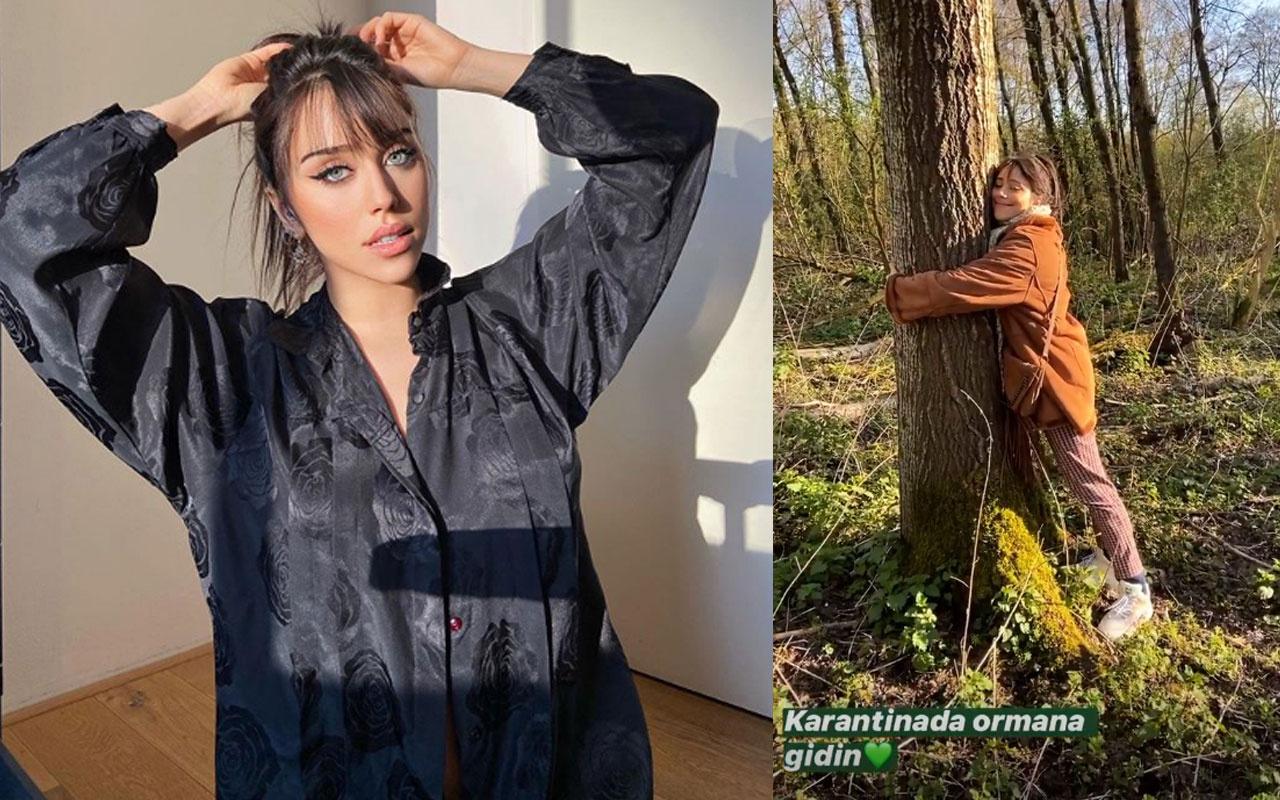 Hamdi Alkan'ın kızı Zeynep Alkan Hollanda'da sevgilisiyle karantinada ormana gitti
