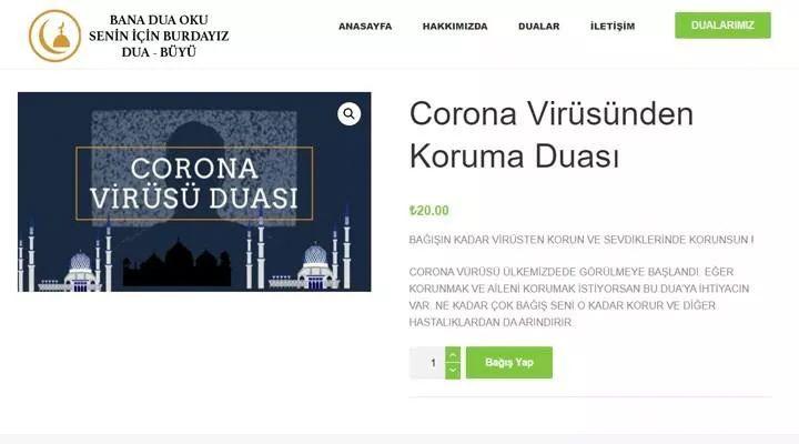 20 liraya koronavirüs duası satılıyor din bezirganlığında sınır yok