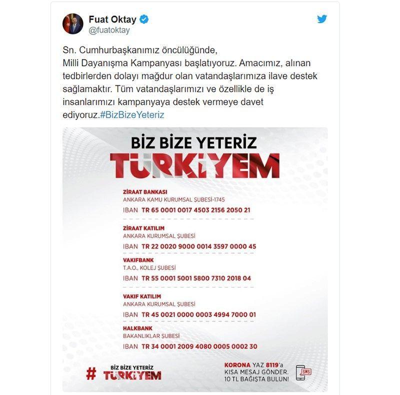Biz bize yeteriz Türkiye kampanyasına kim kaç maaş bağışladı? İşte bağışlar