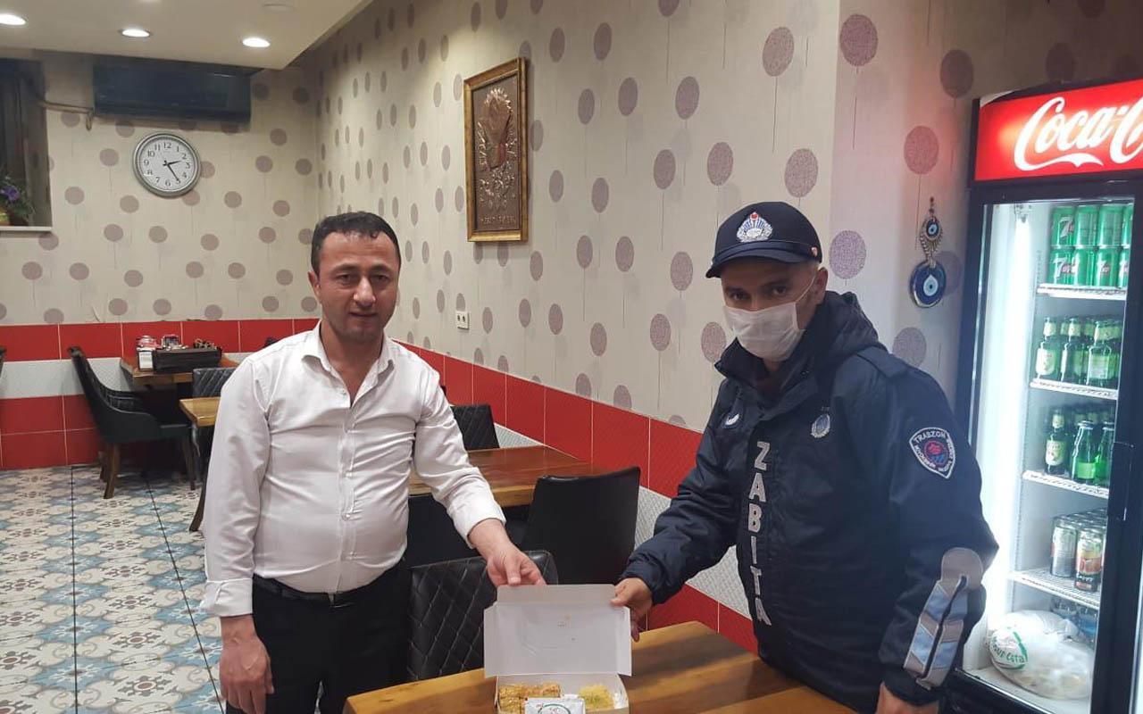 Trabzon'da hamile kadın gece tatlı aşerince zabıta ekipleri devreye girdi