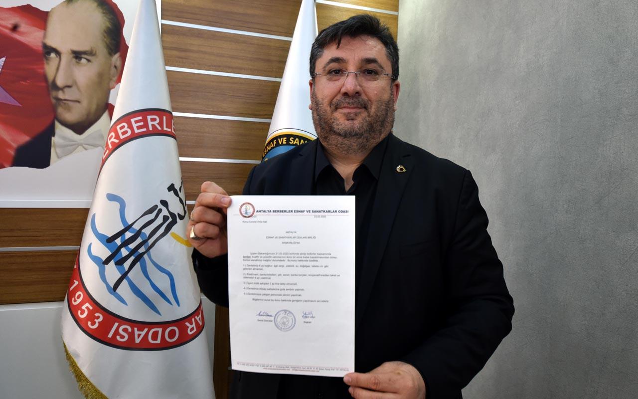 Antalya Berberler Odası Başkanı: Evlere tıraşa giden berber sayısı arttı