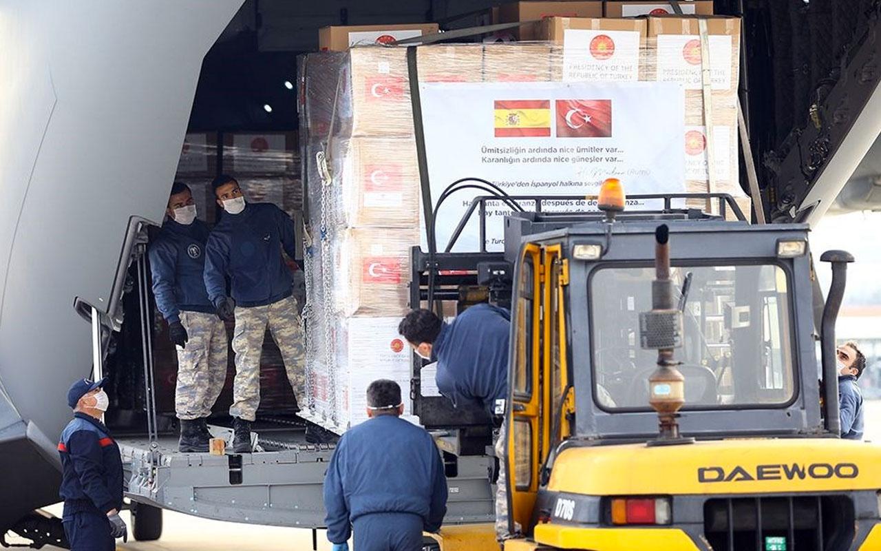 İspanya ve İtalya'ya yardım sonrası Türkiye'ye teşekkür yağdı