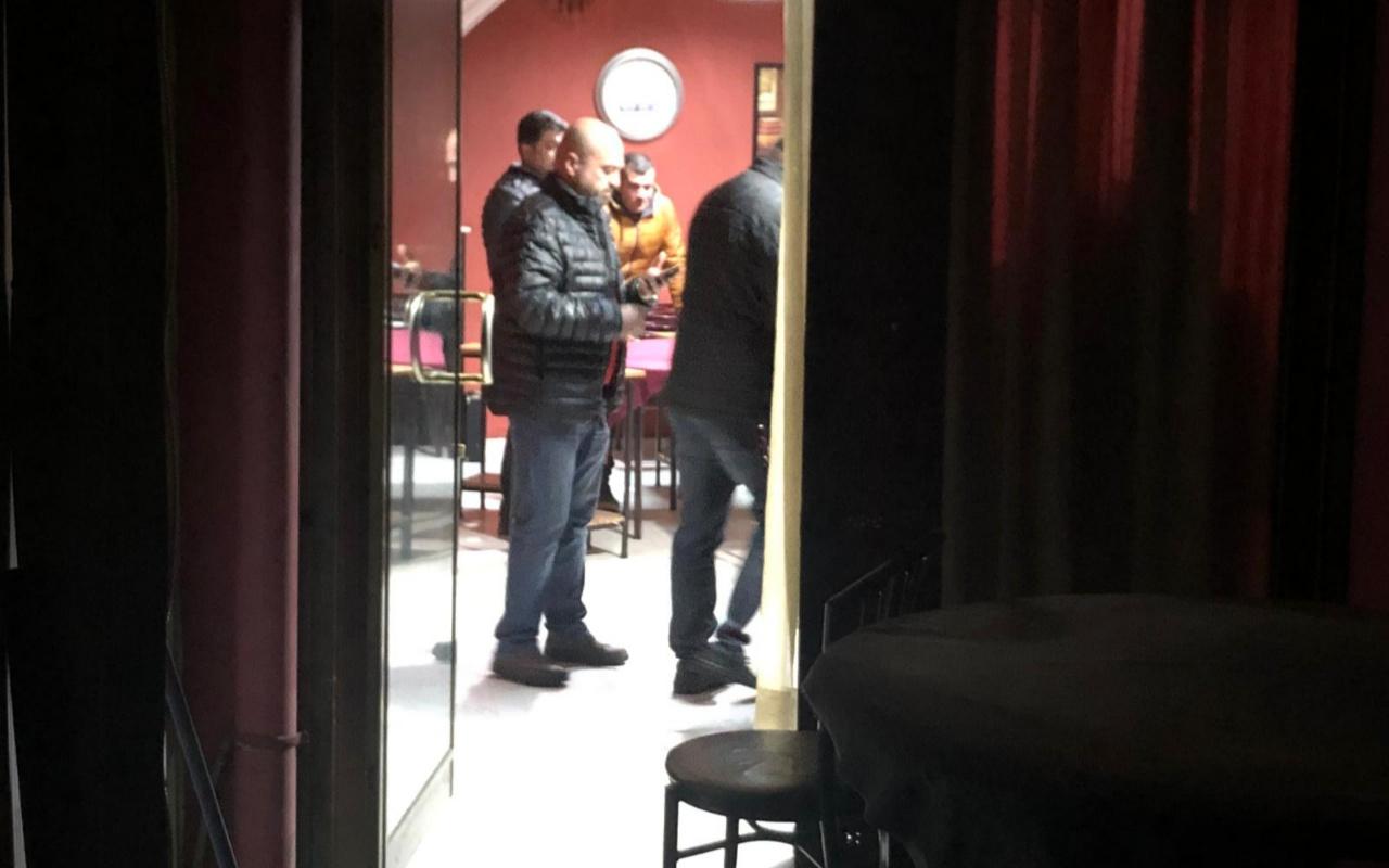 Ankara'da kaçak işletilen kahveye polis baskını