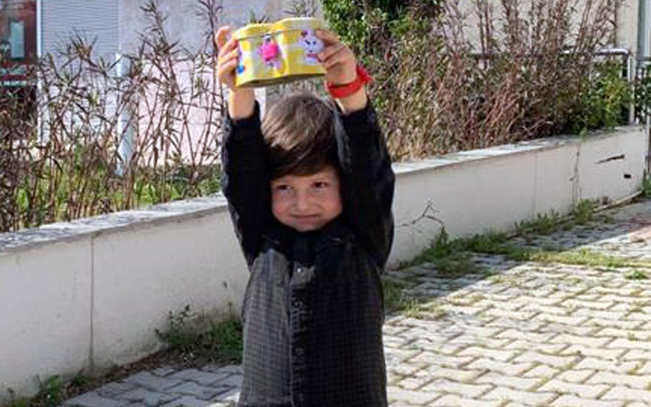 4 yaşındaki Samet, tablet almak için biriktirdiği parayı kampanyaya bağışladı