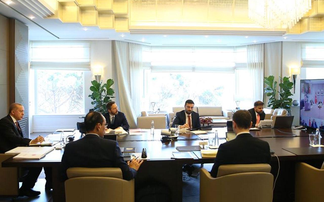 Cumhurbaşkanlığı Kabinesi yine video konferans yöntemiyle toplandı