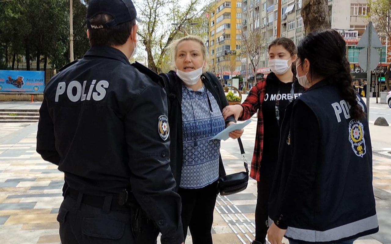 Kahramanmaraş'ta 14 yaşında kızıyla sokağa çıktı tehditler savurdu