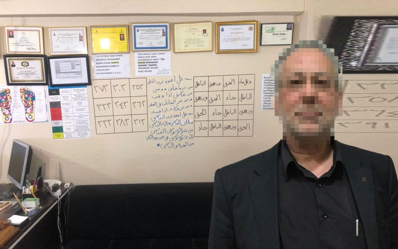 Koronavirüs için muska yazan sahtekar hoca paketlendi polis suçüstü yaptı