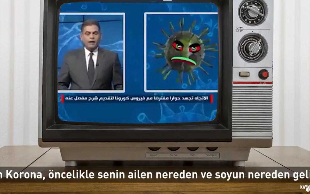 Iraklı spiker koronavirüs ile röportaj yaptı