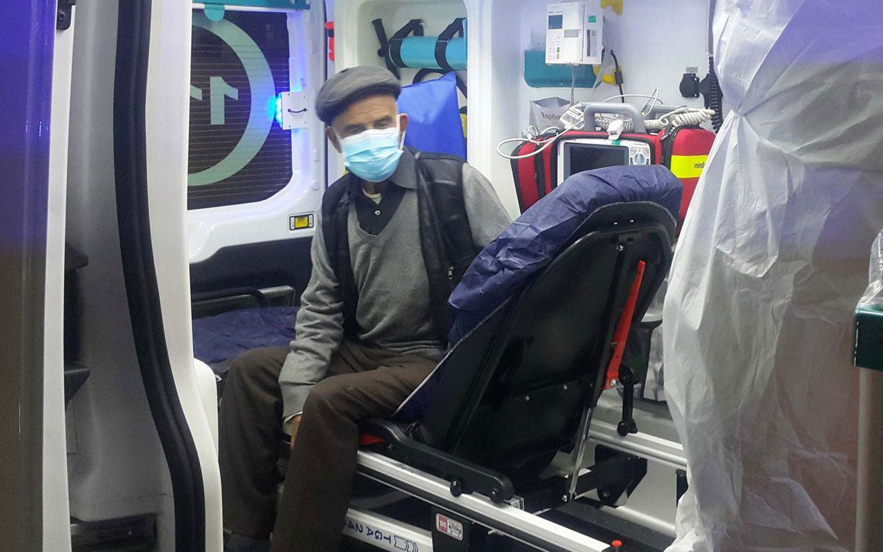 Adıyaman'da koronavirüs şüphelisi yaşlı adamı polisten kaçırmak istediler