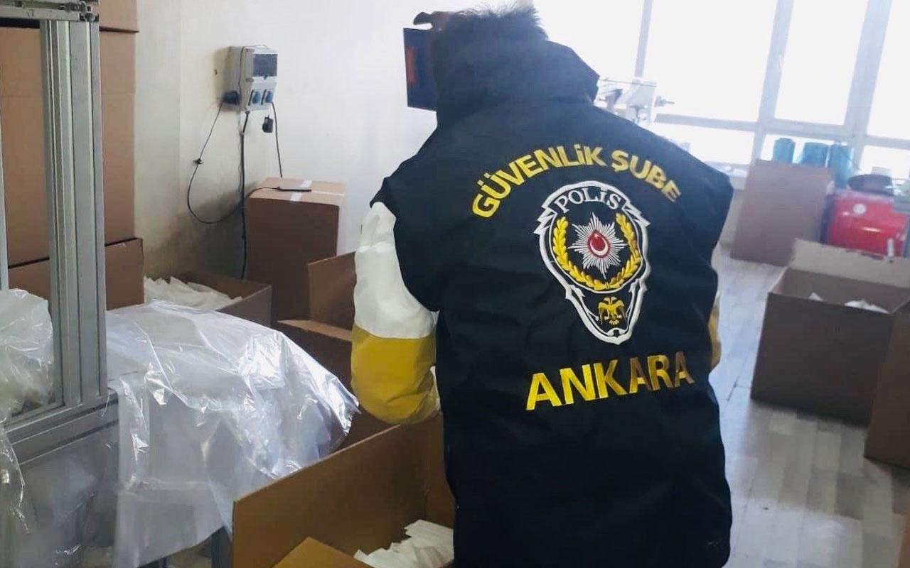 Ankara'da 30 bin kaçak maske ele geçirildi