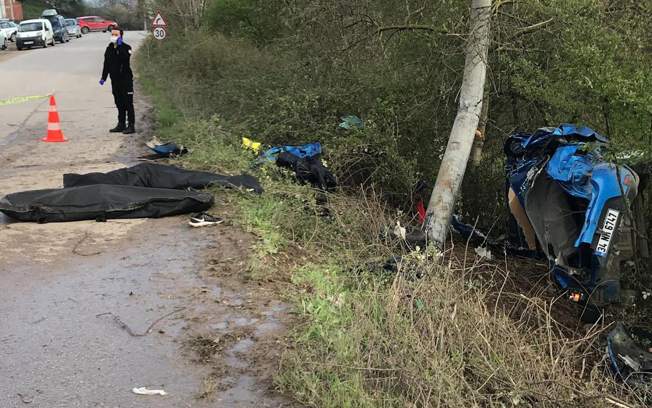 Kocaeli'de yaşanan kazada 3 kişi öldü yakınları gözyaşlarına boğuldu