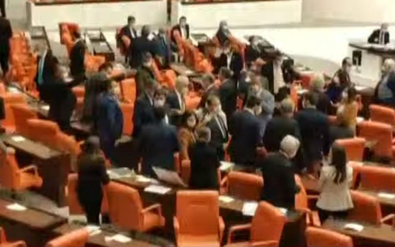 Meclis'te MHP ile HDP arasında gerginlik! MHP'li vekil şerefsiz kancık deyince...