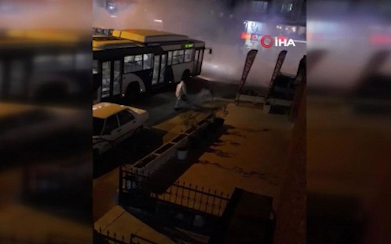 Mamak'ta cadde ve sokaklar dumanlar kaplandı