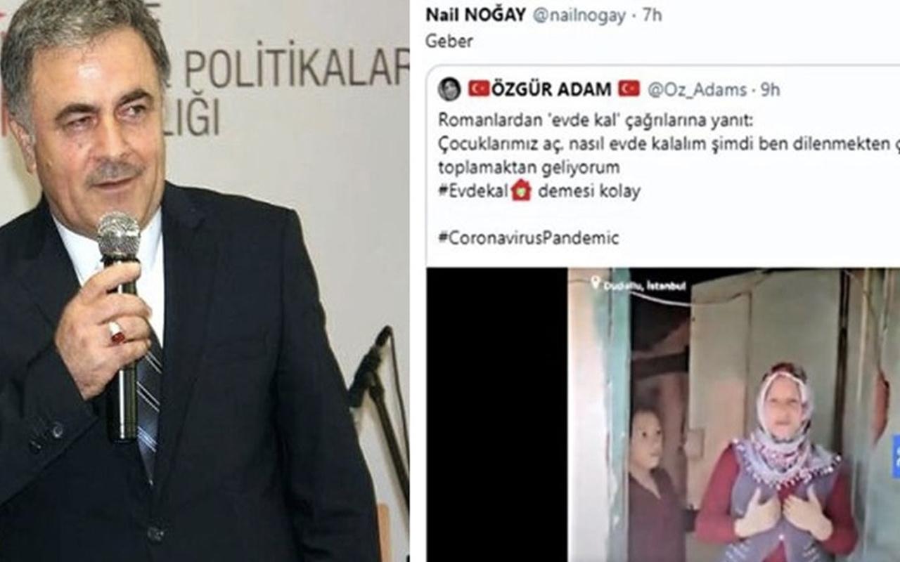Nail Noğay aslen nereli kaç yaşında Roman vatandaşa ne dedi?
