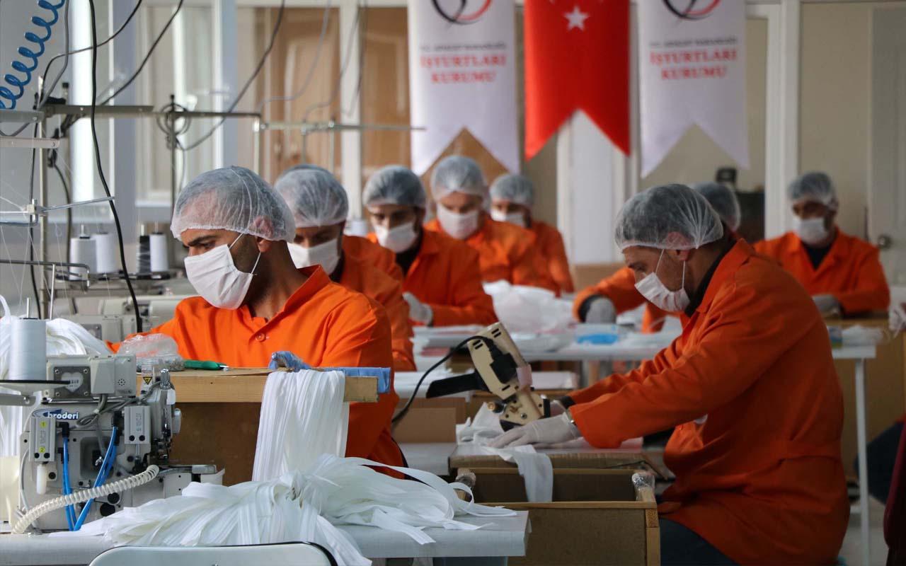 Van'da cezaevi hükümlüleri maske ve tulum üretmeye başladı