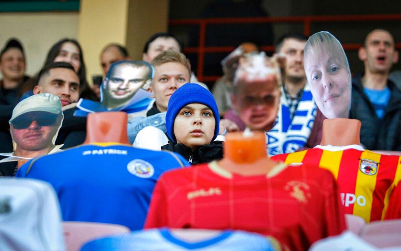 Futbolun devam ettiği tek lig Belarus! Tribünler ful çekiyor