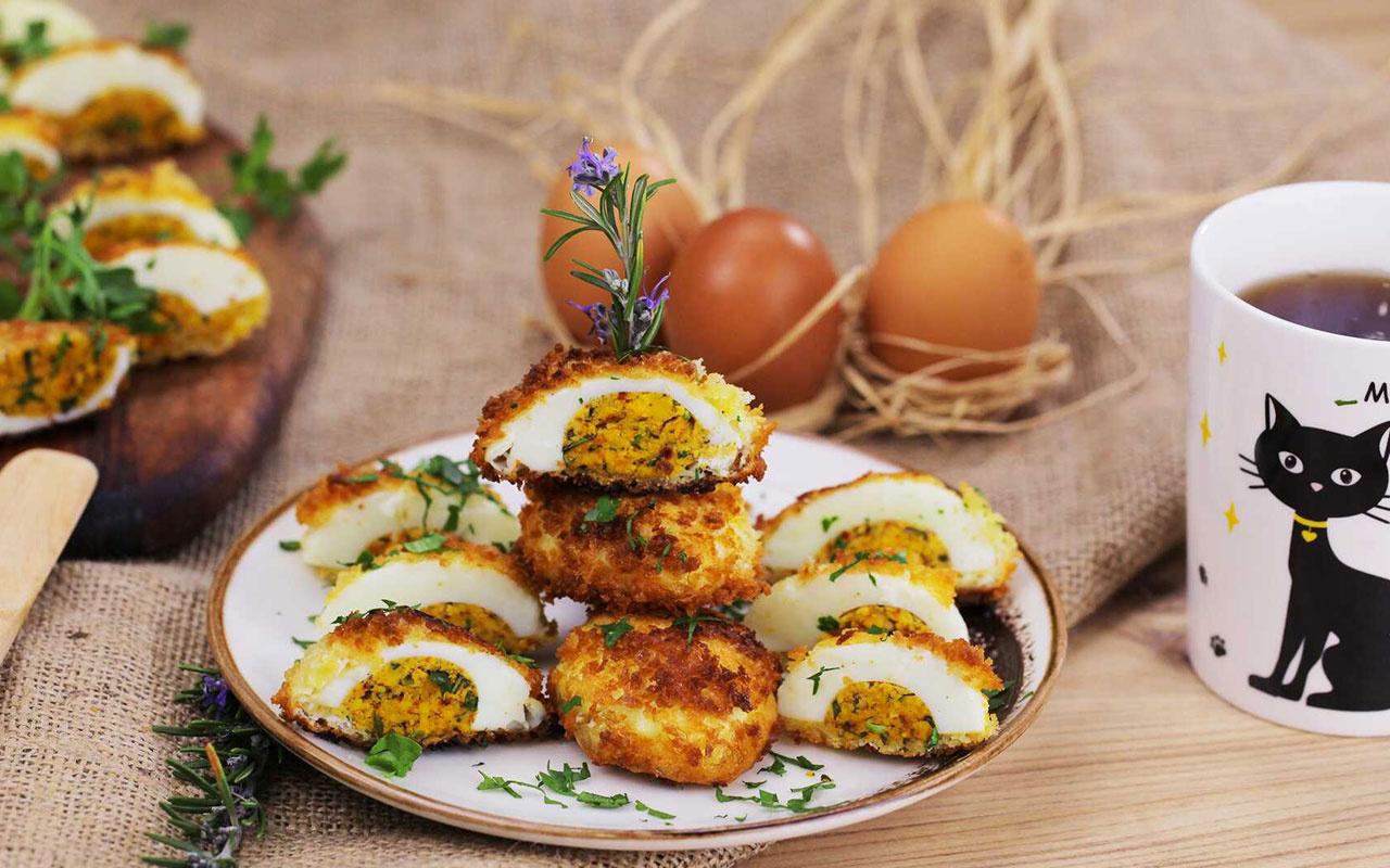 Çıtır yumurta tarifi kahvaltı için alternatif!