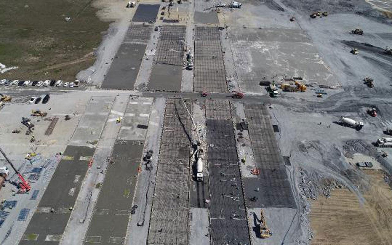 Atatürk Havalimanı'na yapılan koronavirüs hastanesi için beton dökülmeye başlandı