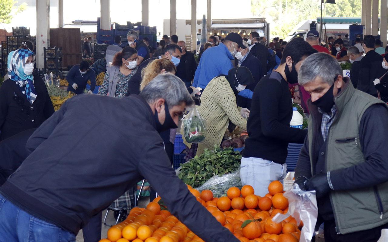 Zonguldak'ta yasak sonrası pazar yerinden korkutan görüntüler