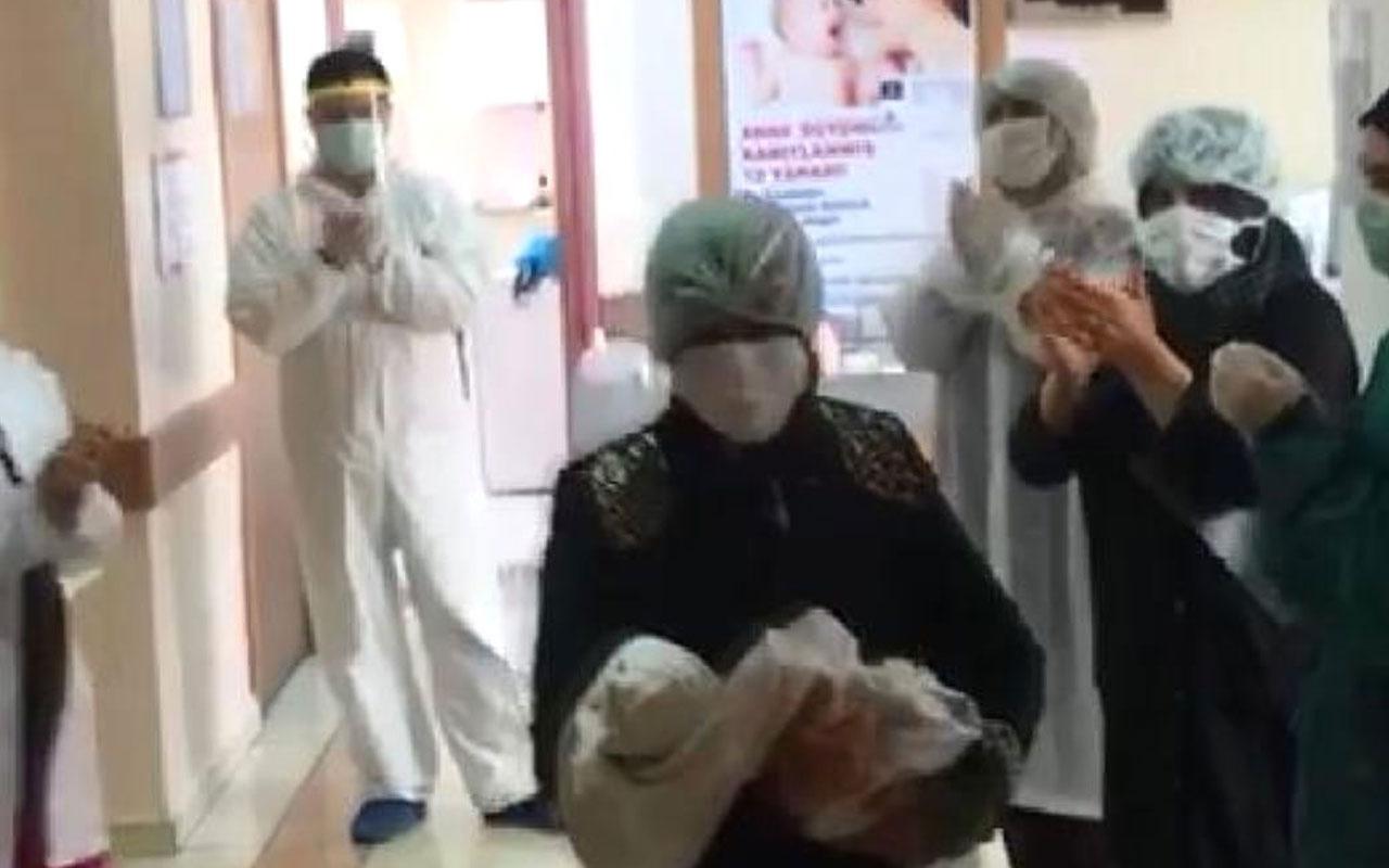 Bingöl'de koronavirüsle doğan bebek hastalığı yendi