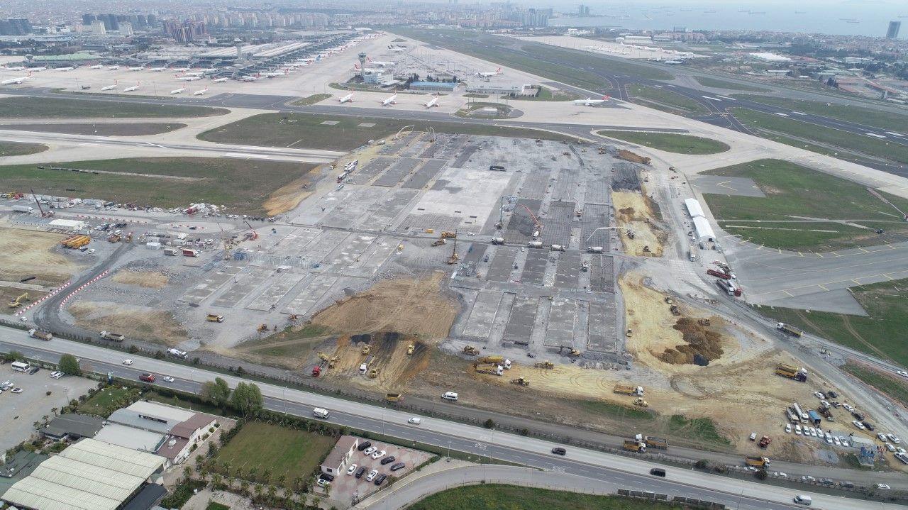 Atatürk Havalimanı'nda yapımı süren hastanenin temeli ortaya çıktı