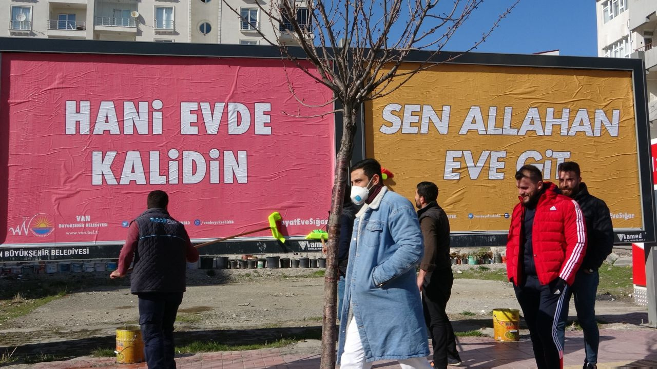 Nelet gele böyle korona virüse! Van, Trabzon, Karabük, Tekirdağ, Amasya'dan güldüren afişler