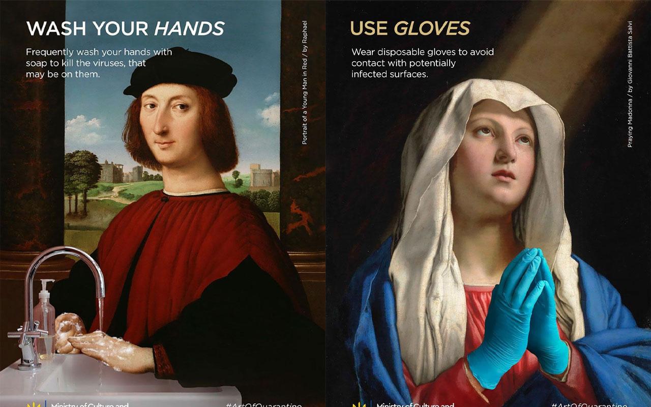 Klasik tablolardan 'Karantina Sanatı'