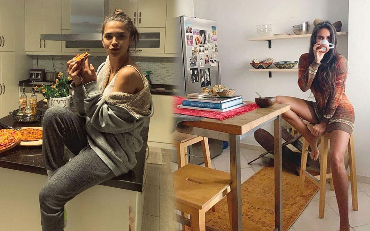Evde kalınca soluğu mutfakta alan ünlüler bakın neler yaptı!
