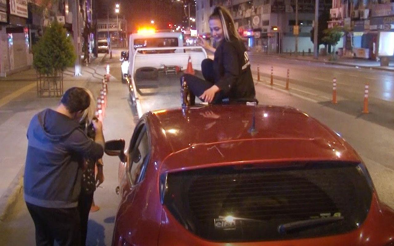 İzmir'de yasaklı saatlerde alkollü yakalandılar ortalığı birbirine kattılar