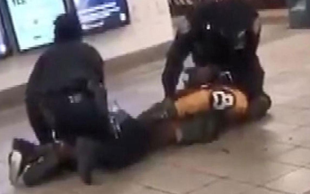 Polise 'koronavirüslü' saldırı!Önce tükürdü sonra raylara itti