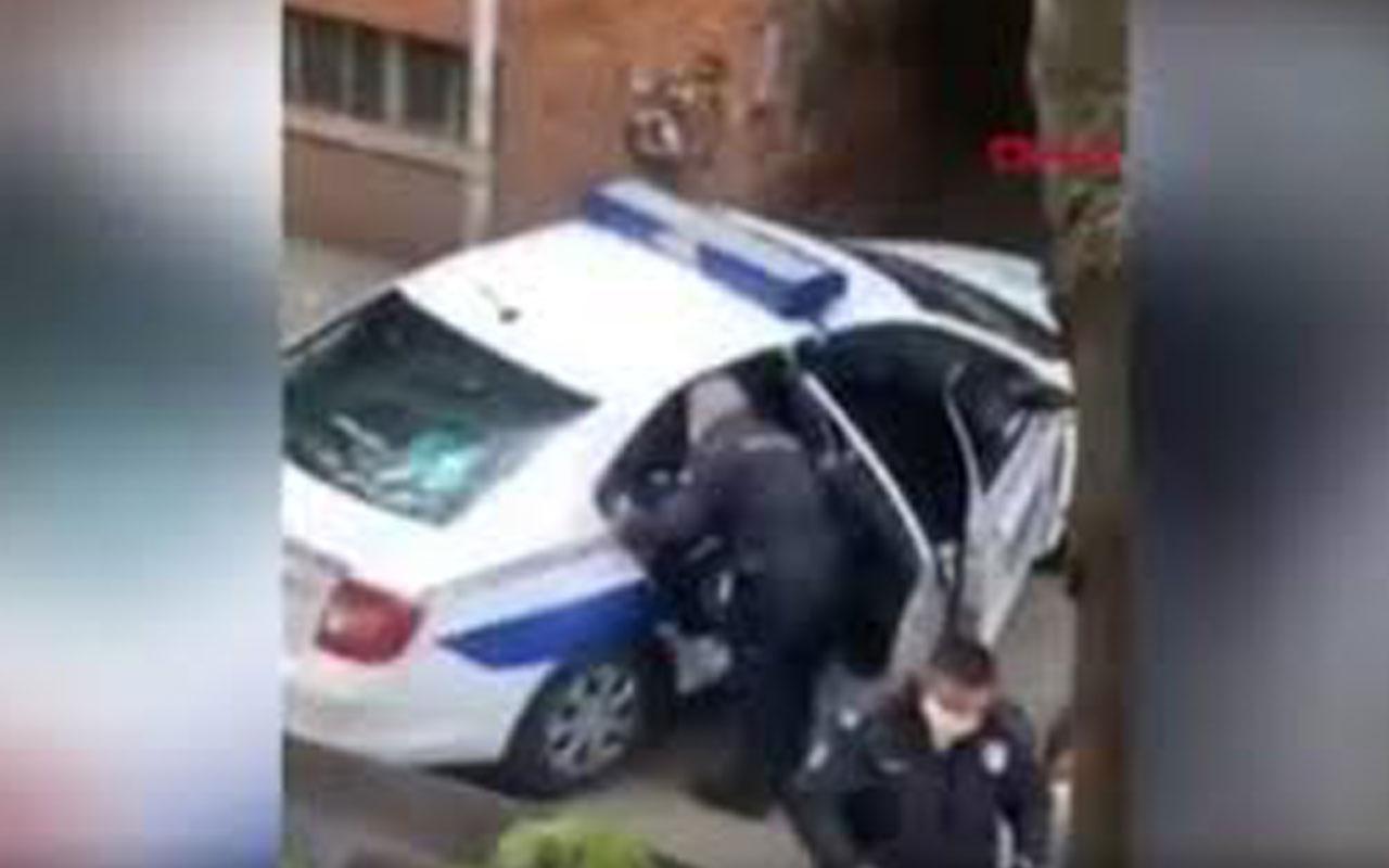 Tepki çeken görüntü! Polisten karantinaya uymayan kişiye dayak