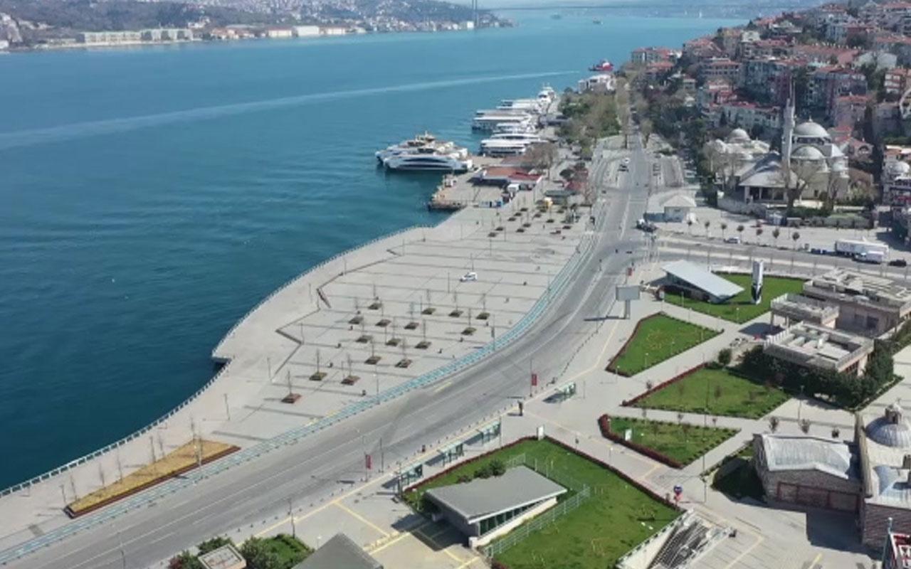 İstanbul'da vatandaşlar sokağa çıkma yasağına uydular! Meydanlar boş kaldı