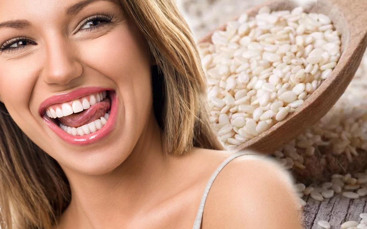 Diş beyazlığını artırma etkili susam kürünü mutlaka deneyin!