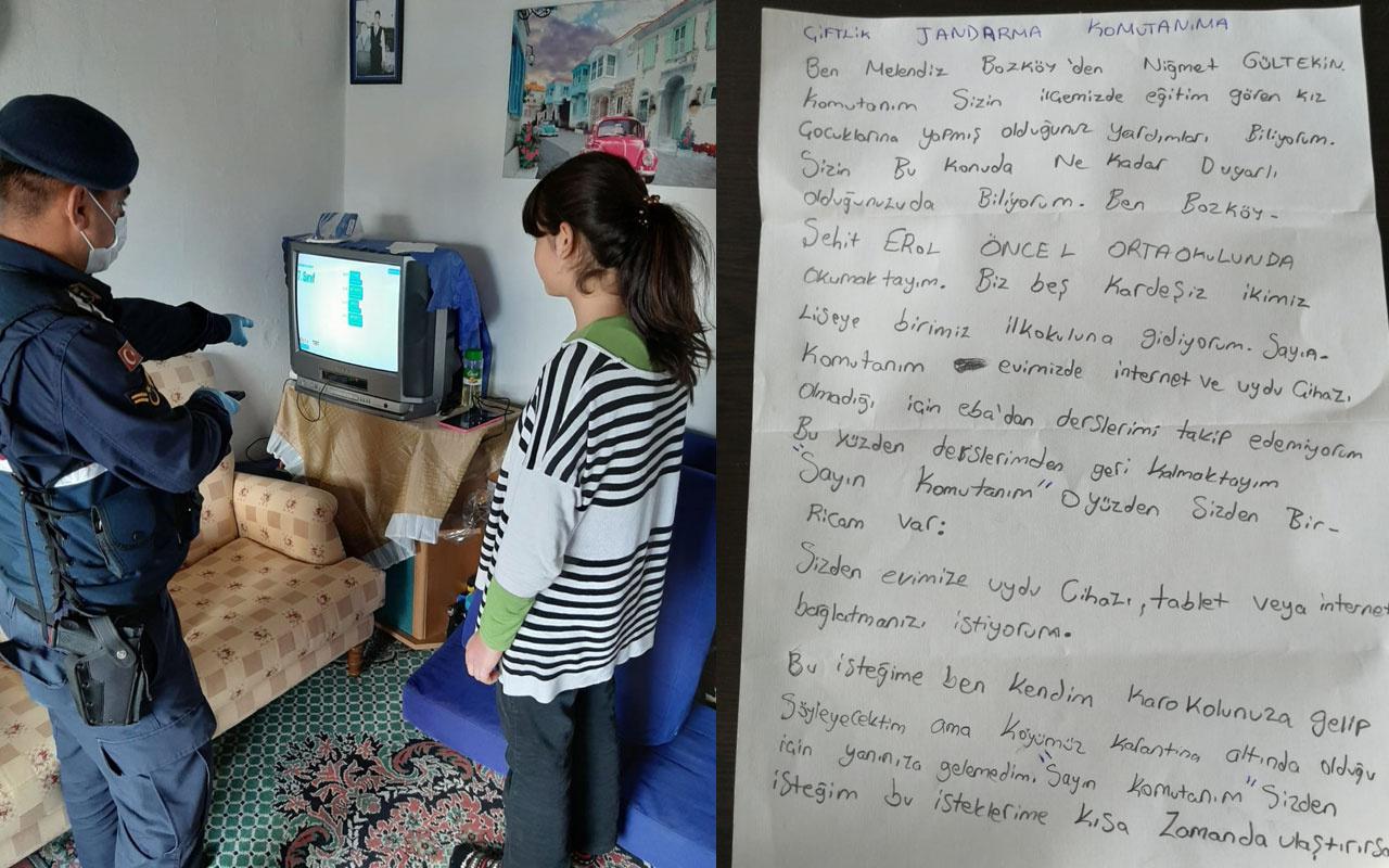 EBA TV'yi izleyemeyen öğrenciye jandarmadan sürpriz