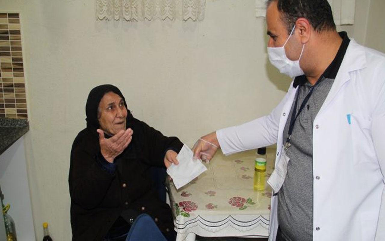 4 engelli çocuğu olan Sabriye Bilgiç yaşlılık parasını Milli Dayanışma Kampanyası bağışladı
