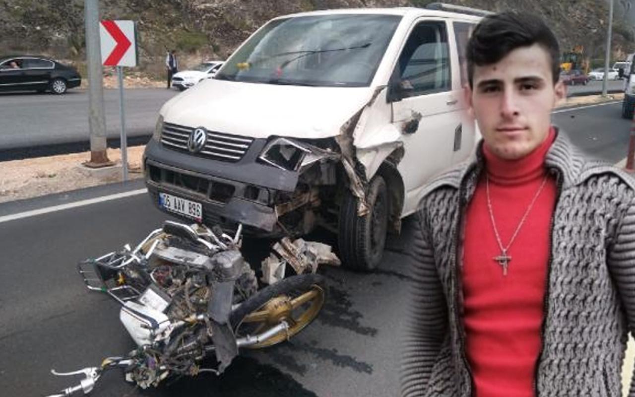 Amasya'da ilk kez bindiği motosikleti 19 yaşındaki gencin sonu oldu